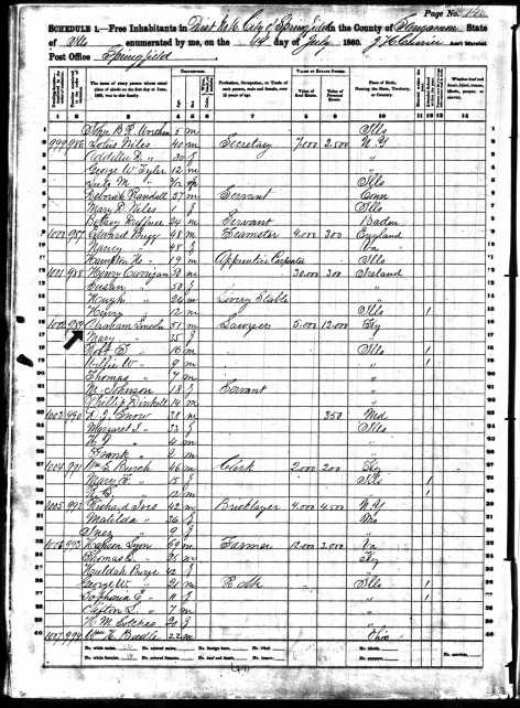 1860 Census Lincoln